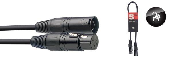 Stagg DMX-Kabel SDX0,5-5 XLR/XLR m/f 5 Pins 0,50 m