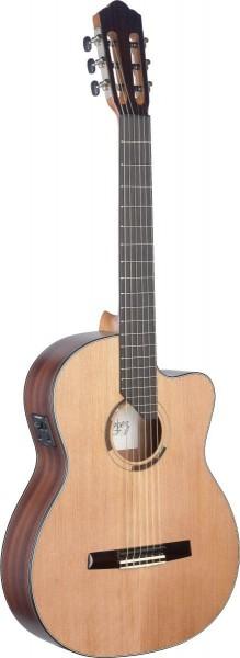 Angel Lopez ERE-CFI S Eresma Serie, E/A Klassikgitarre Cutaway m. massiver Zederndeck
