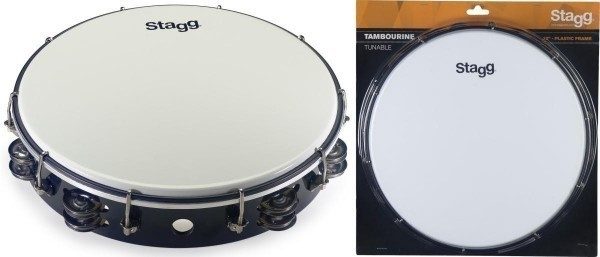 Stagg TAB-212P/BK 12 Zoll stimmbares Kunststoff Tambourin