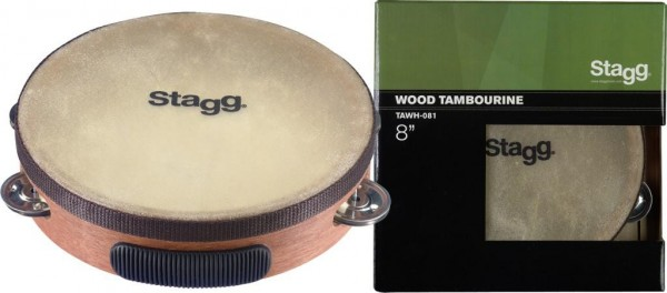 Stagg TAWH-061 6 Zoll vorgestimmtes Holz-Tambourin