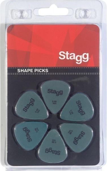 Packung mit 6 Stagg 0.88 mm Standard Kunststoff Plektren