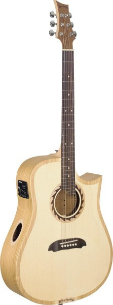 Riversong TRAD 1 P N Stagg TRAD 1 P N Tradition One Serie 4/4 Cutaway Dreadnought-Gitarre mit massiv