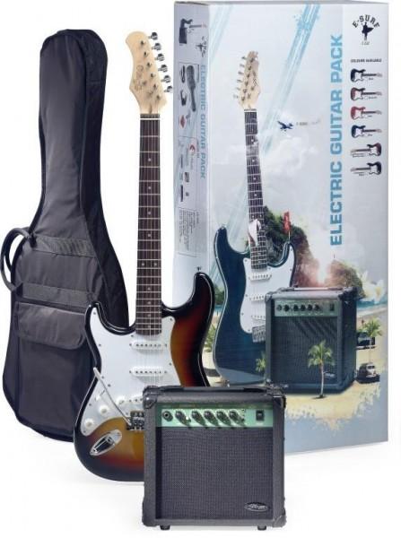 Stagg ESURF 250LHSBEU Surfstar E-Gitarre + Verstärker Pack, linkshandig modell
