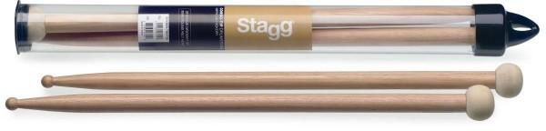Stagg SHV2BR-TIM F30 Ein Paar Combo-Tip Trommelstöcke aus Hickoryholz mit 2BR Tip aus Holz und 30 mm