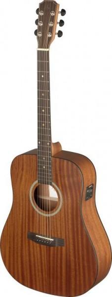 James Nelligan DEV-DFI LH Akustik-Elektrik Dreadnought Gitarre mit massiver Mahagonidecke, Deveron S