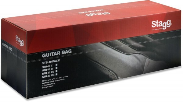 Stagg 4/4 Gitarrentasche für Konzertgitarre PACK