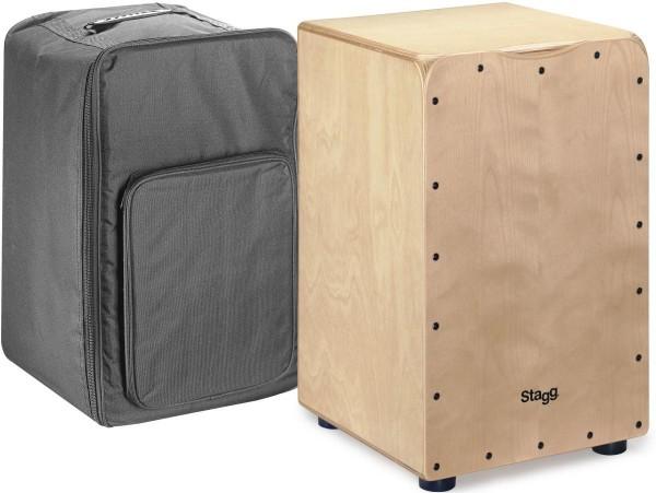 Stagg CAJ-50M N dimensioni standard Birch Cajon con finitura Faceplate in natura