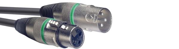 Stagg SMC3 GR Mikrofonkabel, XLR/XLR (m/f), 3 m, Ring Grün