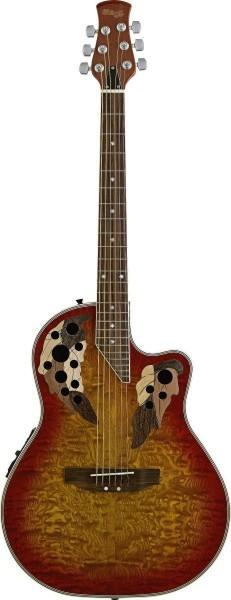 Stagg A2006-CS Elektroakustische Shallow Bowl-Gitarre mit Cutaway