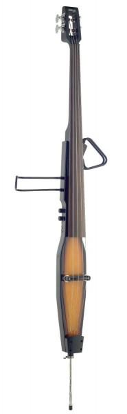 Stagg EDB-3/4RDL VBR 3/4 Deluxe E-Kontrabass mit Gigbag, Violin Braun