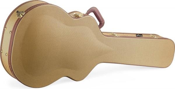 Stagg GCX-J GD Gold Tweed Deluxe-Koffer für Jumbo-Gitarre