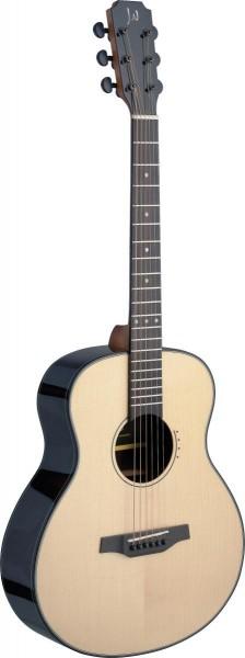 James Nelligan LYN-A MINI FI Lyne Serie, E/A Auditorium Travel-Gitarre m. massiver Fichtendecke