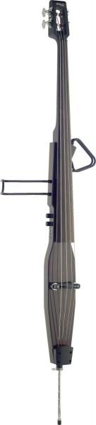 Stagg EDB-3/4RDL DBR 3/4 Deluxe E-Kontrabass mit Gigbag, Dunkelbraun