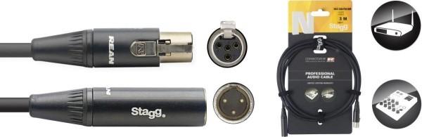 Stagg NAC3MXFMXMR N-Serie Audio Kabel - Mini 3pin XLR M / Mini 3pin