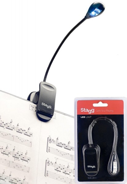 Stagg MUS-LED 2 Anklemmbare und frei stehende LED-Lampe