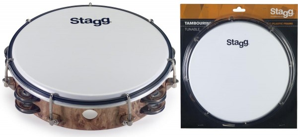 Stagg TAB-208P/WD 8 Zoll stimmbares Kunststoff Tambourin