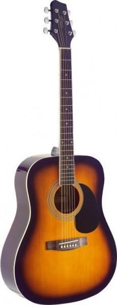Stagg SA40D-BS Dreadnought, akustische Gitarre m. Fichtendecke
