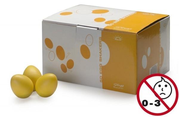 Stagg EGG-50 YWM Box mit 50 Plastik Schütteleier gelb