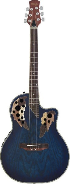 Stagg A2006-BLS Elektroakustische Shallow Bowl-Gitarre mit Cutaway