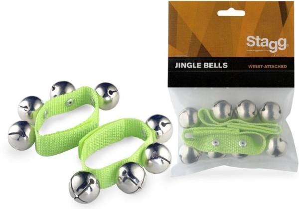 Stagg SWRB4 L/GR Glocken-Armbänder - jedes Armband mit 4 Glocken