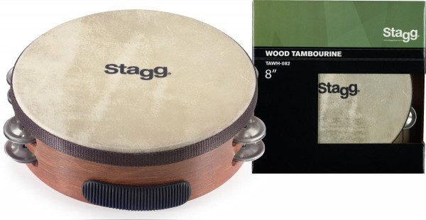Stagg TAWH-082 8 Zoll vorgestimmtes Holz-Tambourin