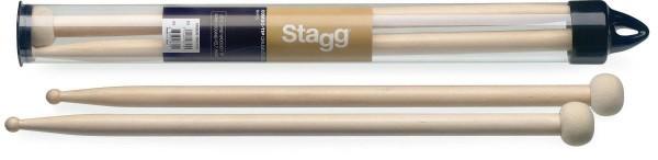 Stagg SM2BR-TIM F30 Ein Paar Ahorn Combo-Tip Trommelstöcke mit 2BR Tip aus Holz und 30 mm Filzkopf r