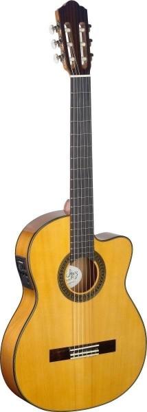Angel Lopez CF1246TCFI-S 4/4 Cutaway eingebauter Preamp Flamenco klassische Gitarre dünner Korpus ma