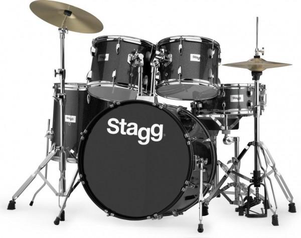 """Stagg TIM322B SPBK 5-teiliges, 22"""" Standard Linden Schlagzeug m. Hardware u. Becken"""