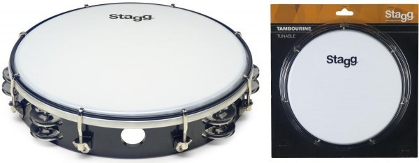 Stagg TAB-210P/BK 10 Zoll stimmbares Kunststoff Tambourin