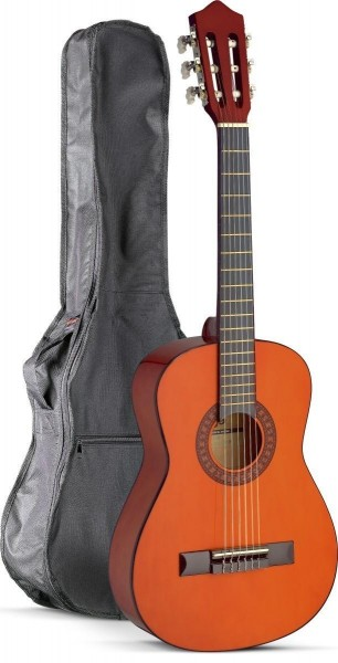 Stagg C510 1//2 Klassikgitarren-Set in natur mit Fichtendecke