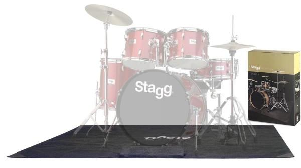 Stagg SCADRU1815 LITE Leichter Schlagzeugteppich mit Tragetasche 180 x 150 cm