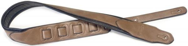 Stagg SPFL 40 COP Kupferfarben gepolsterter Leder-Imitat Gitarrengurt mit Ende in Dreieckform