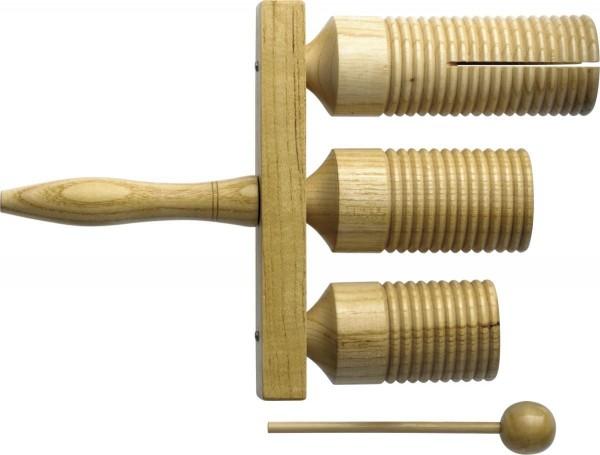 Stagg GTTB-126 Drei-Tone-Block aus Holz mit Schlegel