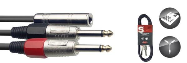 Stagg YC-03/1PF2PH Audiokabel 2 x klinke/ 1 x buchse