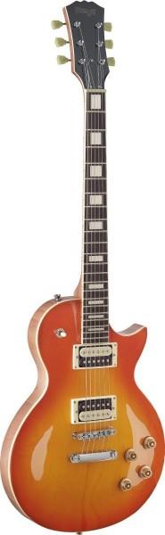 Stagg SEL-ZEB-HB L Serie, Zebra E-Gitarre m. massivem Mahoganikorpus u. gewölbter Ahorndeck