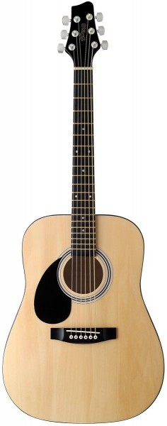 Stagg SW201 3/4 LH N Akustische Dreadnought Gitarre m. Lindendecke, f. Linkshänder