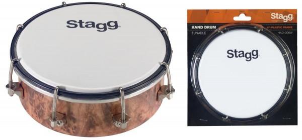 Stagg HAD-006W 6 Zoll stimmbare Kunststoff-Handtrommel