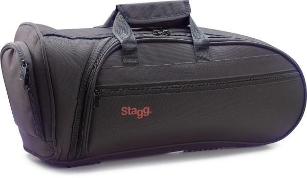Stagg SC-BC Softcase aus wetterbeständigem Nylon f.Clairon und Flügelhorn