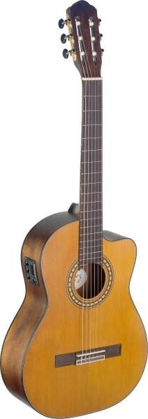 Angel Lopez SIL-CE M Silvera Serie 4/4 Cutaway klassische Gitarre mit massiver Fichtendecke eingebau