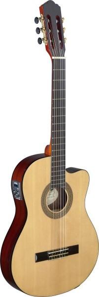 Angel Lopez CER TCE S Cereza Serie Cutaway klassische Gitarre eingebauter Preamp dünner Korpus massi