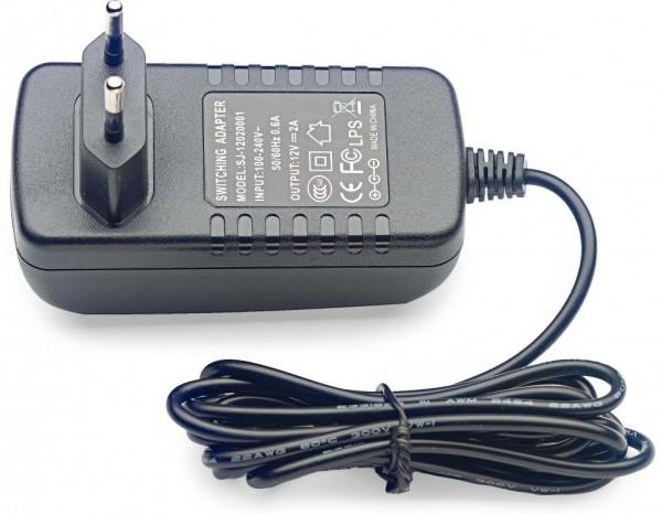 Stagg PSU-12V2AR-EU Umgekehrte Polarität12-Volt / 2 A AC Adapter für Effektpedale