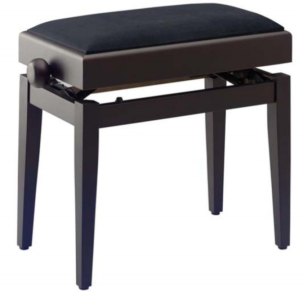Stagg PB55 RWM VBK Matt, Klavierbank, Palisander-farbig, mit Notenfach und feuerfestem schwarzen Sam