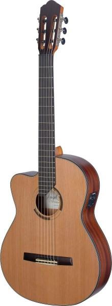 Angel Lopez ERE-CFI S LH Eresma Serie, E/A Klassikgitarre Cutaway m. massiver Zederndeck