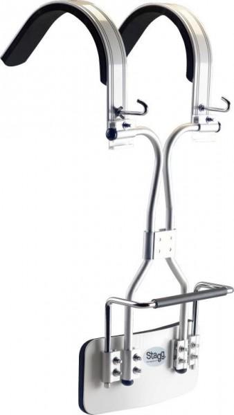 Stagg MACA-BD20 WH Marching Tragegestell für Bassdrum weiß
