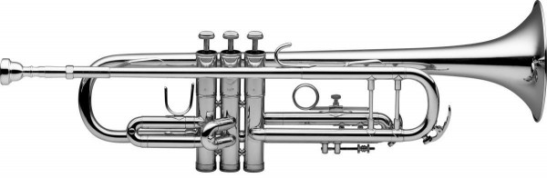 Levante 77-TCB/SL B-Trompete, Edelstahl Ventile, versilbert, im ABS-Koffer