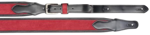 Stagg SLL 13 RED/BLK Rot Leder Gitarrengurt