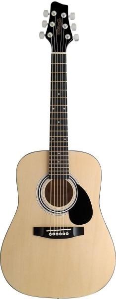 Stagg SW201 1/2 N Akustische Dreadnought Gitarre in natur mit Lindendecke