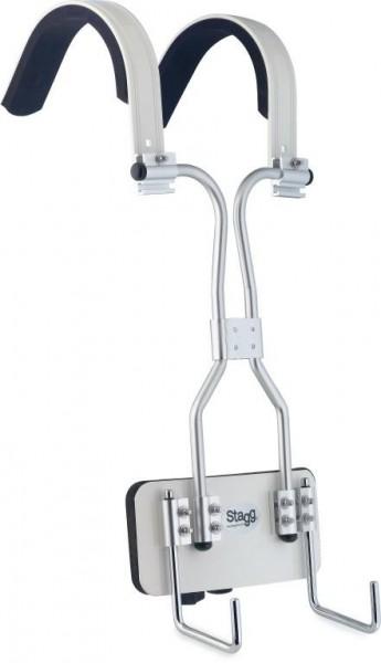Stagg MACA-SD20 WH Marching Tragegestell für Snare weiß