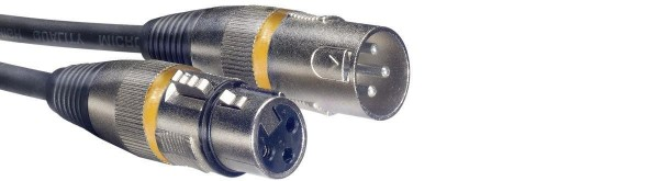 Stagg SMC10 YW Mikrofonkabel, XLR/XLR (m/f), 10 m, Ring Gelb