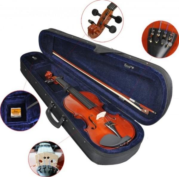4/4 Geige Violine SET Bogen Koffer Anfängergeige Kindergeige Schülergeige